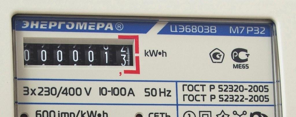 Электросчетчик энергомера цэ6803в