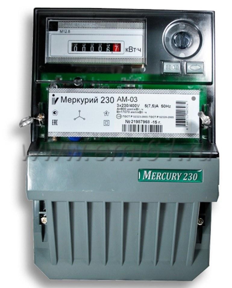 Однотарифный счетчик меркурий 230