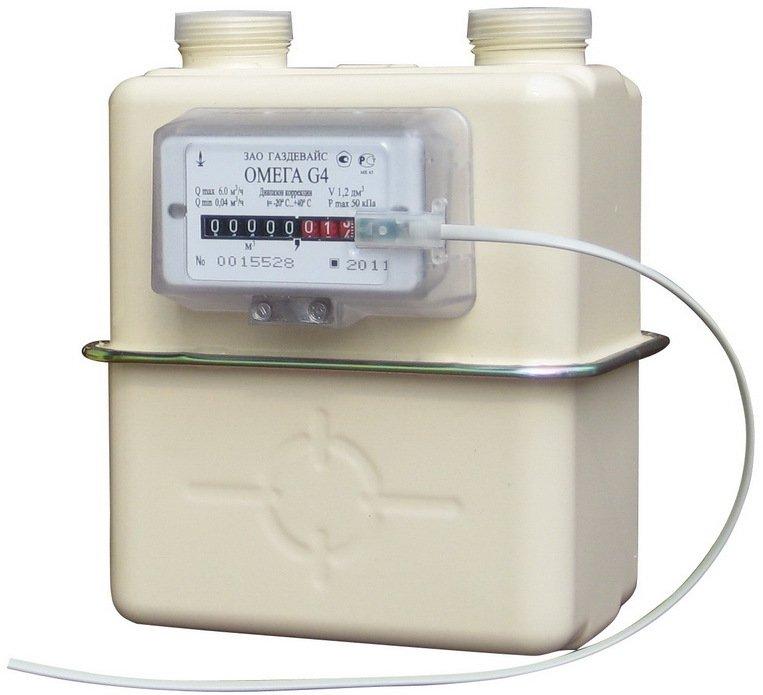 Газовый бытовой расходомер Омега G4 Газдевайс