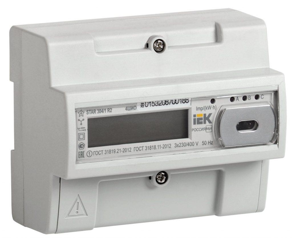 Трехфазный счётчик электроэнергии